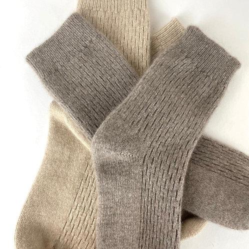 The Undyed Hero Cashmere Socks