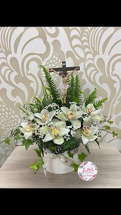 F1- Cristo con Orquideas