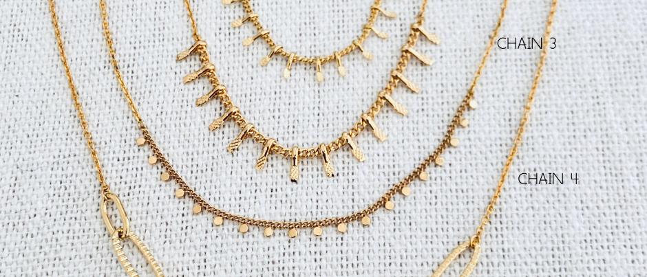 Colliers Minimalistes dorés