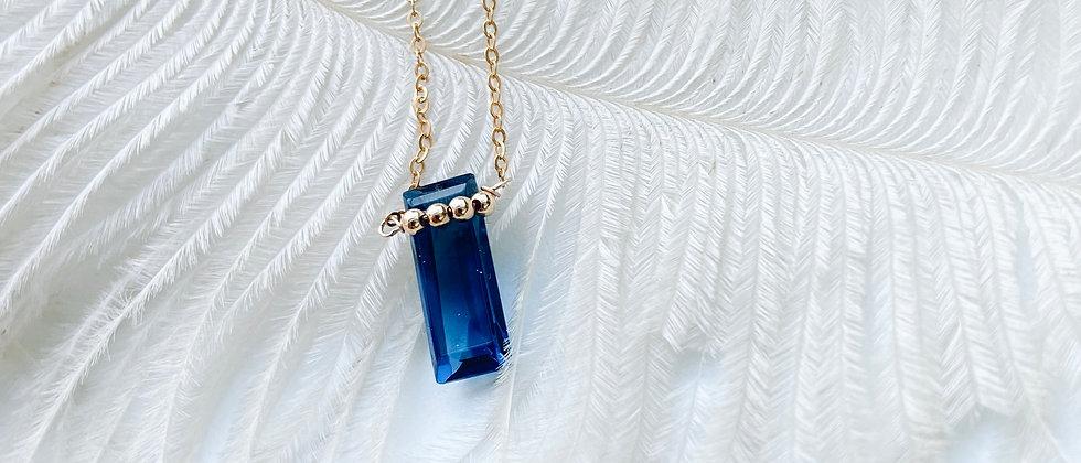 Collier Kali en Topaze London Blue - Gold Filled