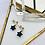 Thumbnail: Boucles d'Oreilles MOANA Onyx - Gold filled