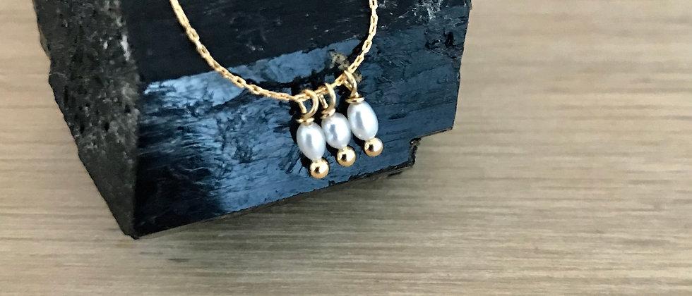 Collier Léonie, trois perles