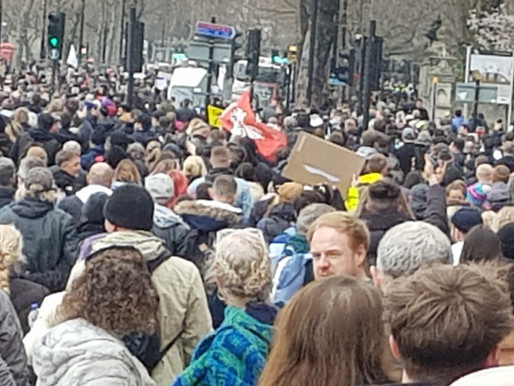 Huge Turnout to Protest for Freedom in London 20/03/21