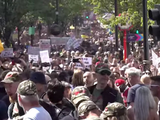 Massive Pro-Freedom Crowds Marched through London 24/04/21