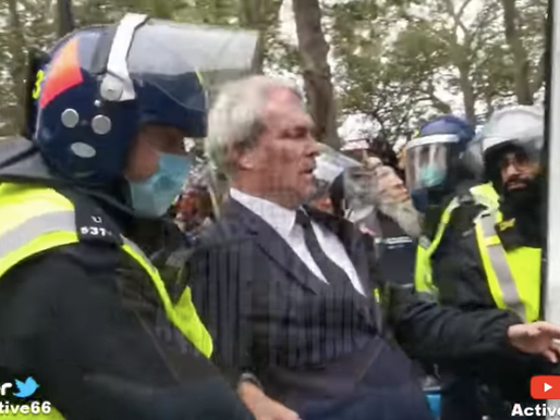 Dr Heiko Schöning arrested at Speaker's Corner