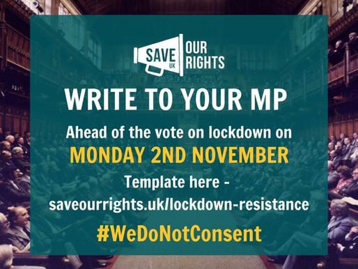 UK Lockdown 2.0 Letters & Tips