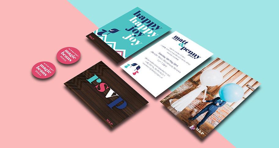 Jodie Bean graphic design wedding stationery design