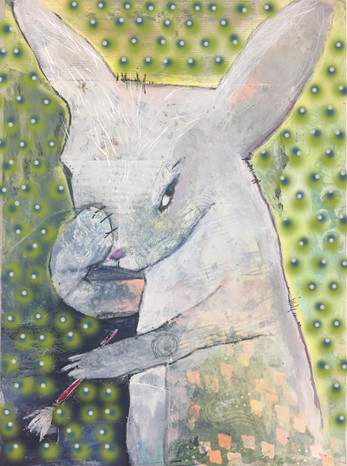 """The Artist as a Young Rabbit"""
