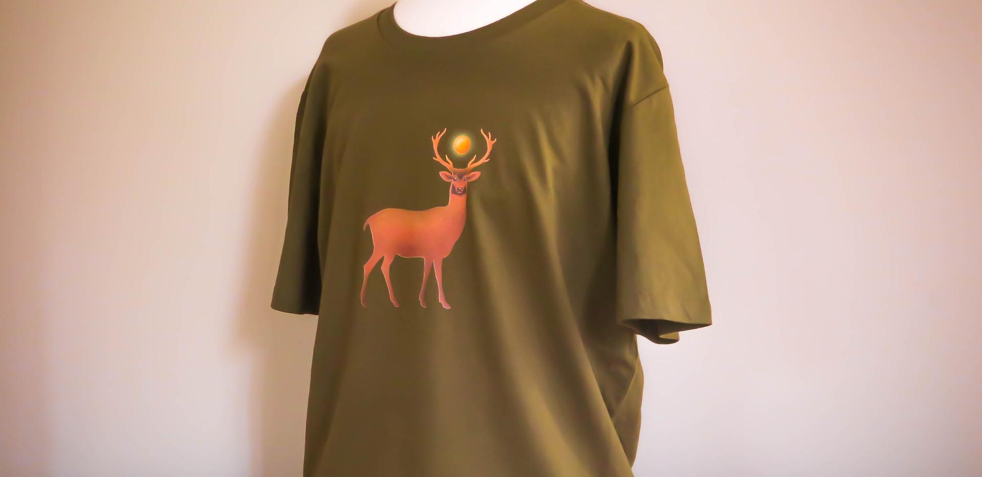 T-shirt Deer - model B - men