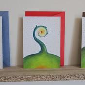 Greeting card: Spiralling plant