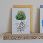 Greeting card: tree and roots