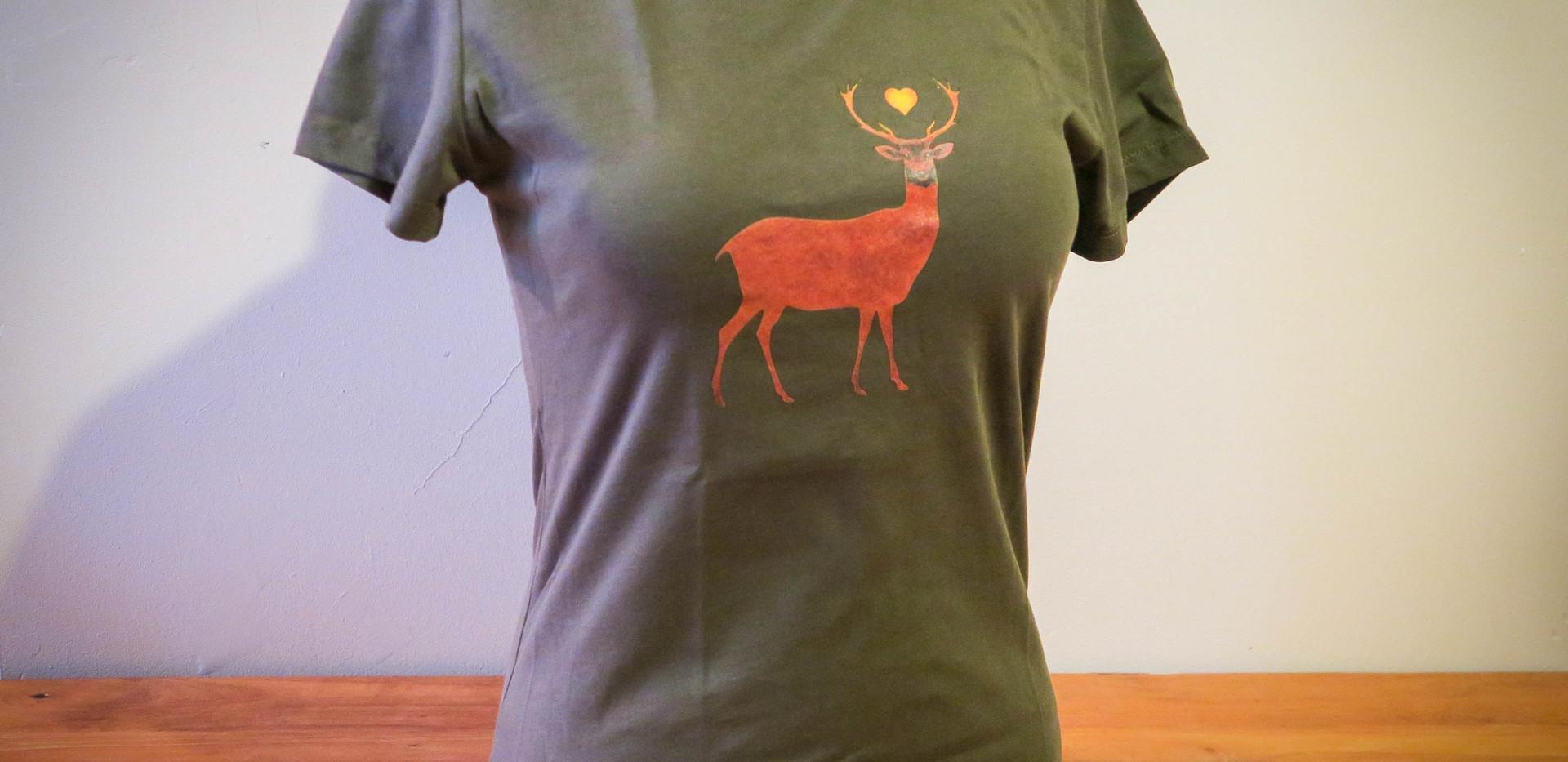 T-shirt Deer - model A - ladies