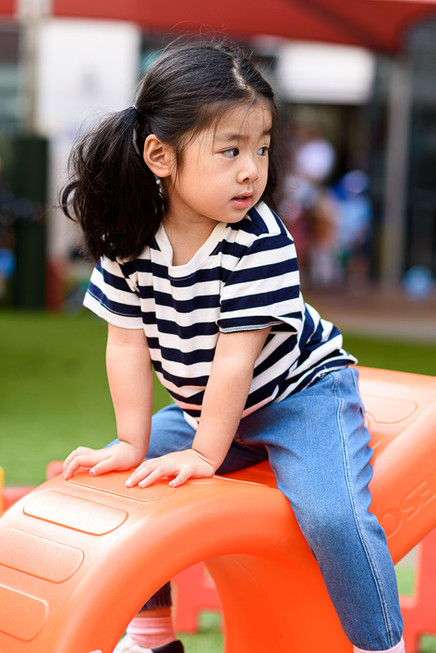 Outdoor play at World Tower Child Care