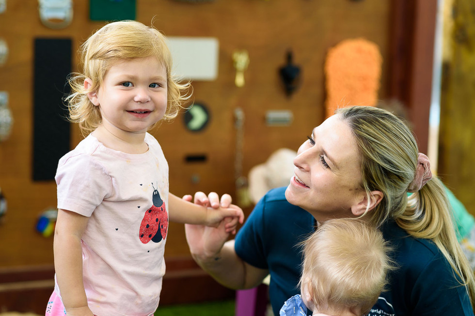 Caring staff at World Tower Child Care