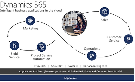 Dynaics 365, intelligent business applications in the clod
