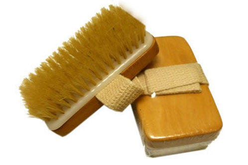 Body Brush-Boar Bristles HandStrap