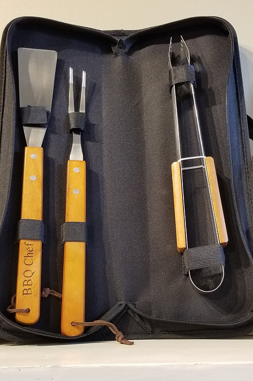 BBQ Chef Tools + Carrying Case