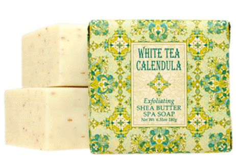 White Tea Calendula  Botanical Butter Soaps
