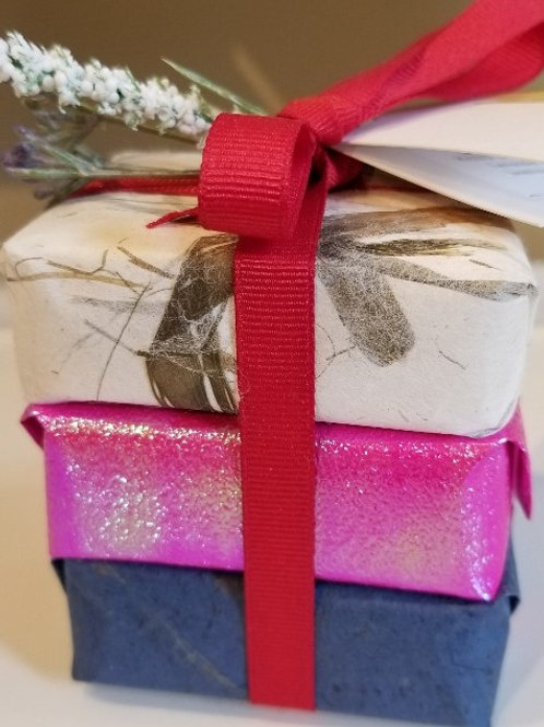 French Trio Flower Soap Gift