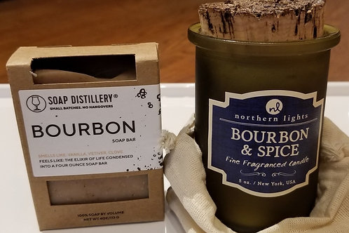 Bourbon Gift Set - Candle + Soap