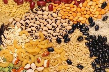 ΖΥΜΑΡΙΚΑ, ΟΣΠΡΙΑ , ΠΑΞΙΜΑΔΙΑ, ντάκος, φασόλια, ρύζι, άγριο ρύζι, φάβα, φακές, ρεβύθια,γίγαντες, χυλοπίτες, λαζάνια, τραχανάς, σπαγγέτι, κριθαράκι, μαυρομάτικα φασόλια