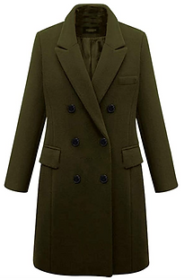 Double Breasted Mid-Long Wool Pea Coat