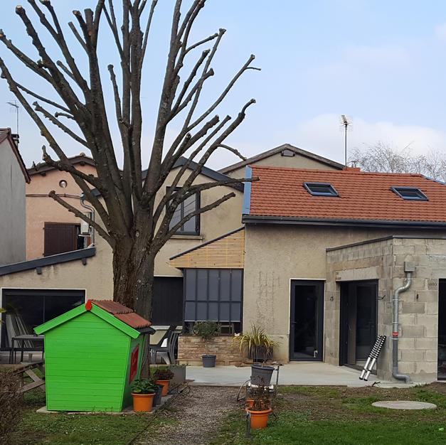 Agrandissement d'une maison - Ravelement de façade