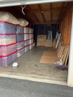 An organized large storage locker. Klutter Kutters Santa Barbara Clutter Cutters Moving Clients Move Managers Professional Organizer Senior Move Manager Move Manager Need Help Moving