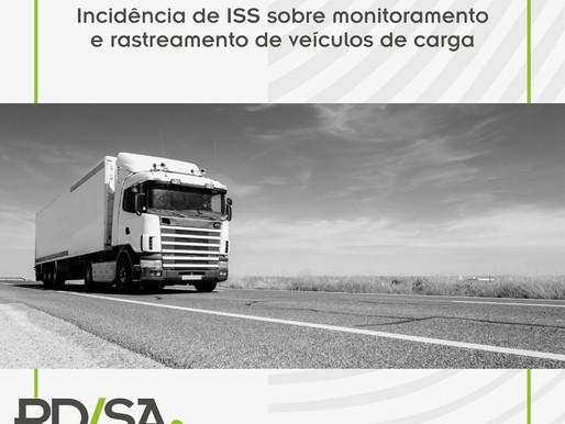 Incidência de ISS sobre monitoramento e rastreamento de veículos de carga