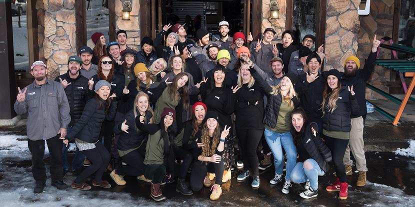 Group photo of niseko winter season foreign staff