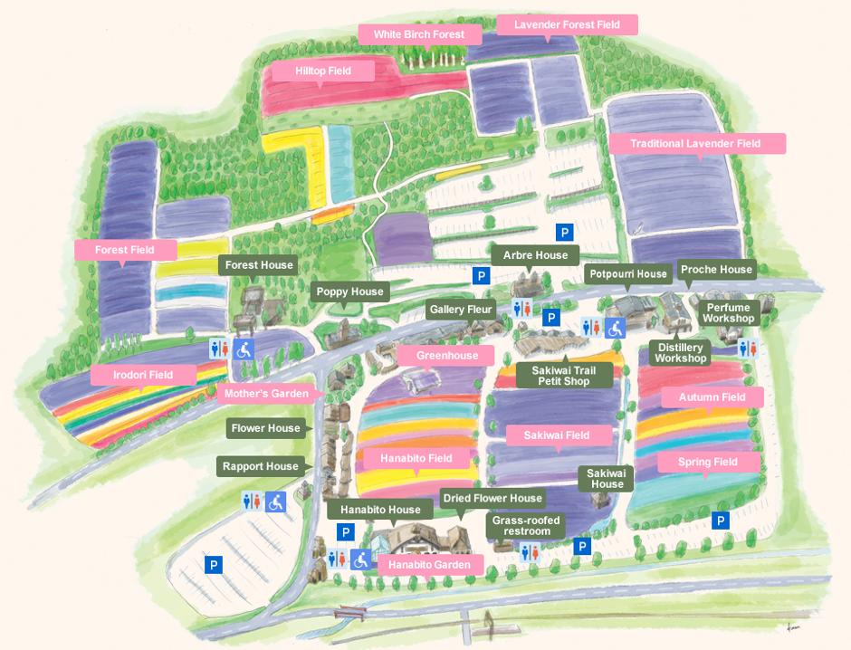 Farm Tomita Garden Map