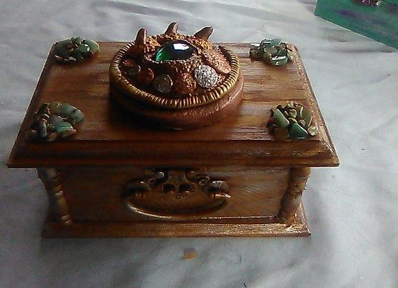 Golden Dragon Eye Treasure Box Aventurine