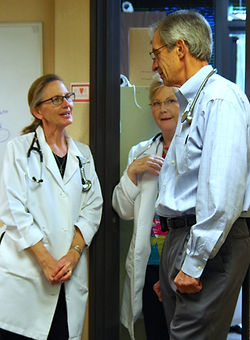 Open Arms volunteers include medical professionals.