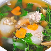 Vegetable Gourd Soup With Minced Chicken