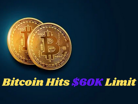 Bitcoin Reaches to the $60,000 Mark - Highest Till Now in 2021