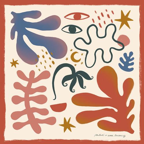 Lenço Seda Matisse