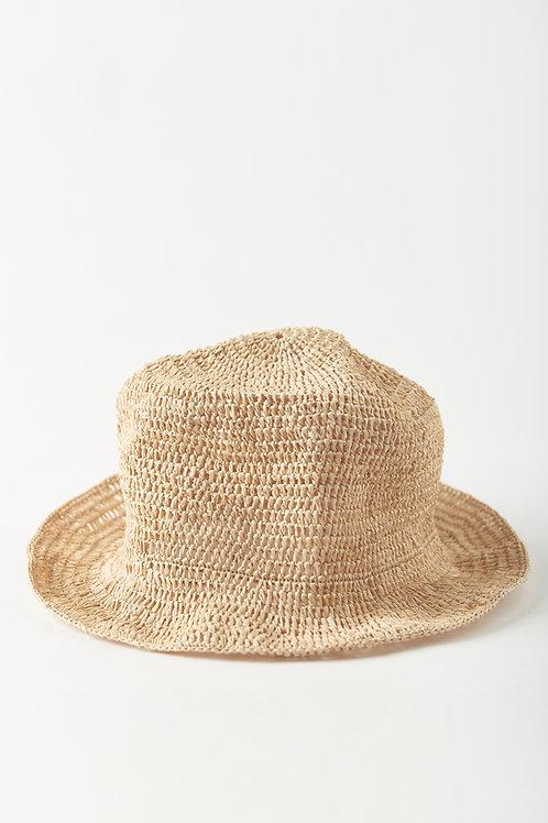 Chapéu Crochê de palha