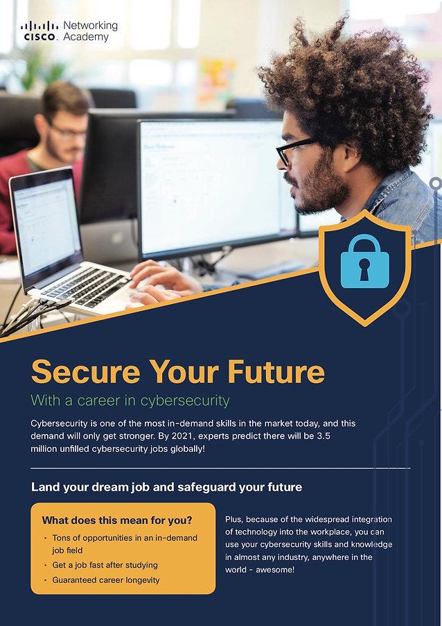NetAcad Cybersecurity Flyer - Secure Fut