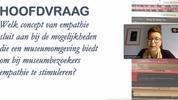 Afstudeerder Marjelle van Hoorn:Musea en empathie. Een pleidooi voor details.