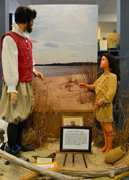 Tableau of Hugh Gwynn and Pocahontas