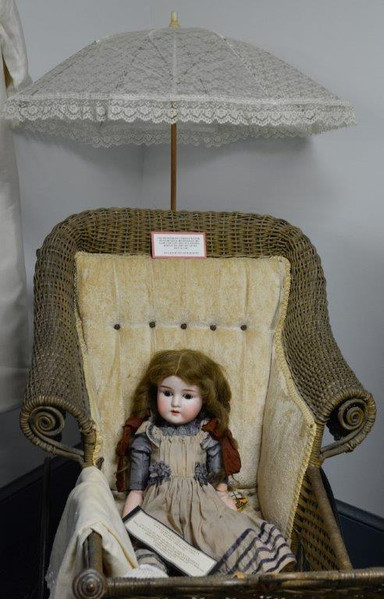 Antique Doll and Carriage
