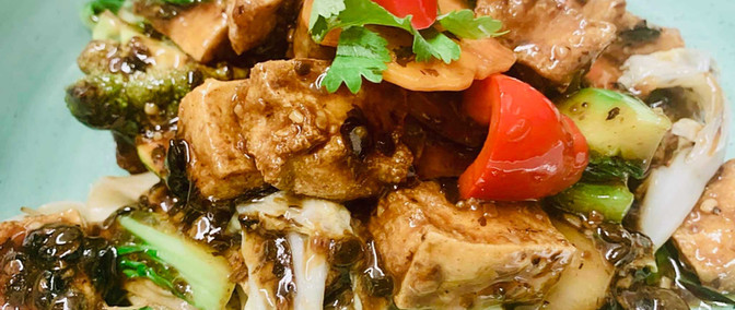 Tofu-and-vegetables-with-Blackbean-sauce