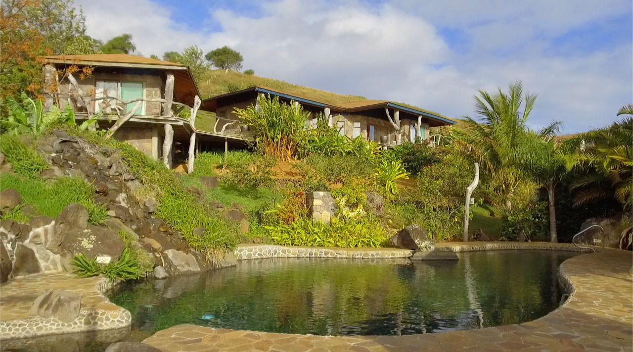 Construida con piedras de la isla