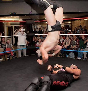 Panda Cub Moonsault on Jimmy Havoc