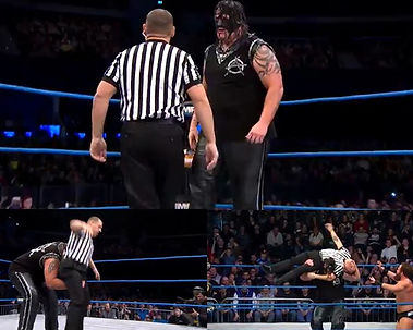 Steve Lynskey referee in TNA with Abyss