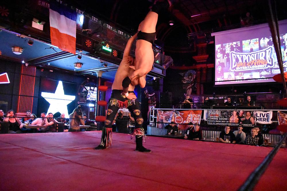 Three Amigos performed at Exposure Wrestling Coyote Nitro