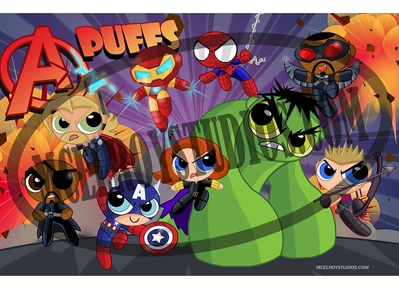 The Avengers Puff