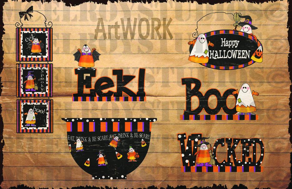 halloween candy corn art 2 copy