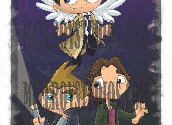 Supernatural with Castiel