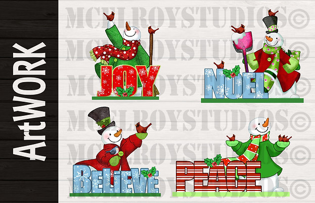 Christmas Product Design Artwork